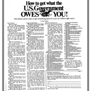 How To Get What The U.S. Government Owes You from Ads in Chapter 17 of The Boron Letters