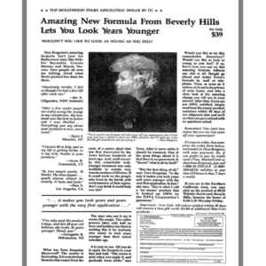 The Beverly Hills Diamond Ad from Ads in Chapter 17 of The Boron Letters